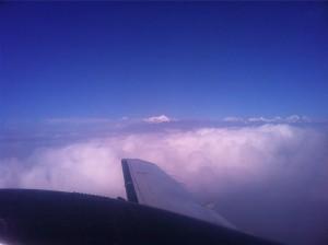 飛行機からのヒマラヤ